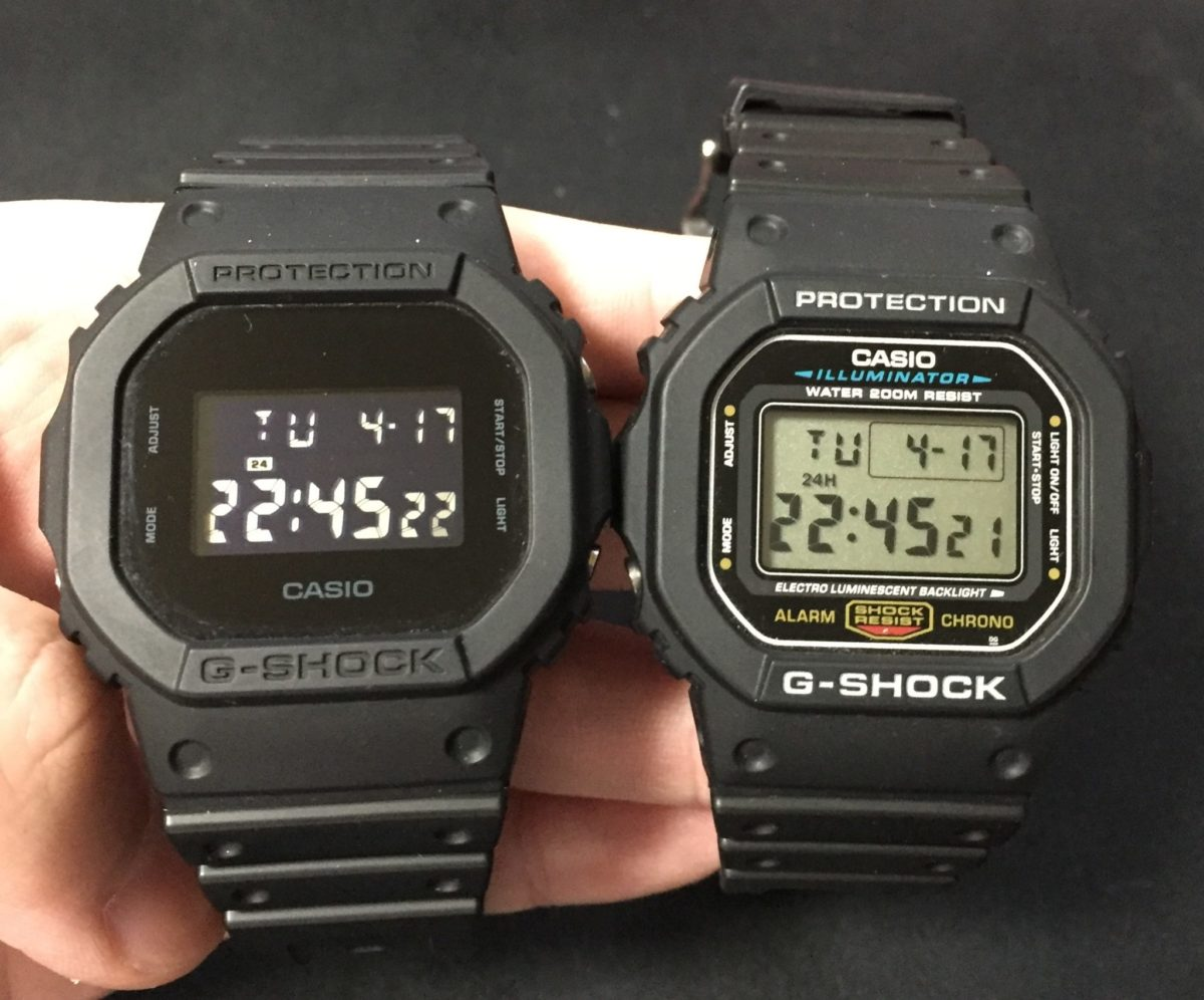 DW-5600[E-1V]と[BB-1JF]比較