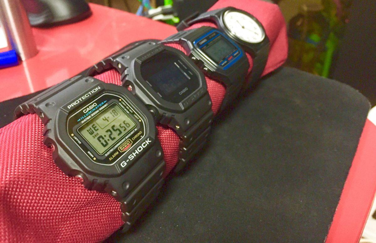 CASIOの時計たち