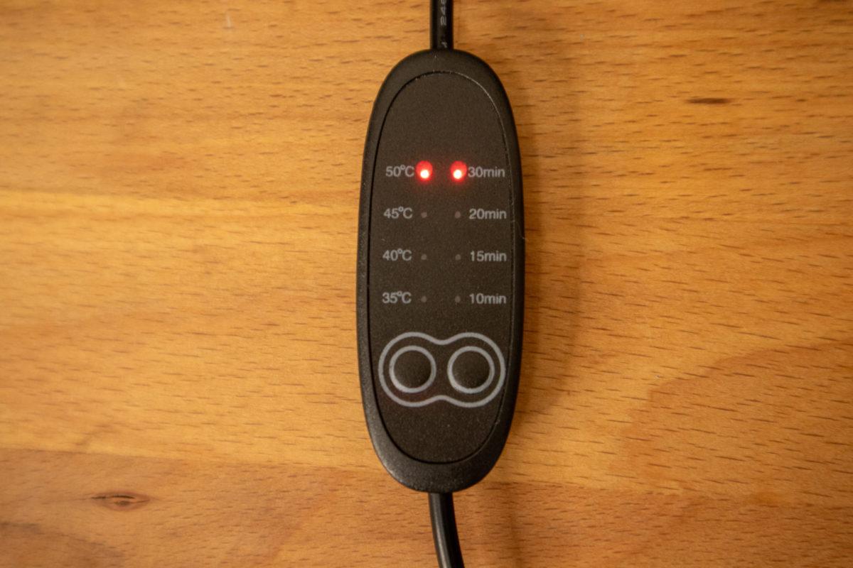You&Me USBホットアイマスク USBと温度、時間設定デモ