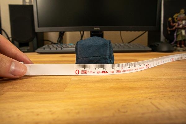 モンベル トレッキングアンブレラの直径 4cmもない