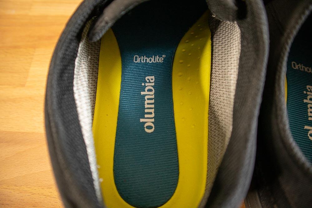 ホーソンレイン2ロウ アドバンス オムニテック オーソライトが見える。長く履いているのでColumbiamの文字が欠けている・・・