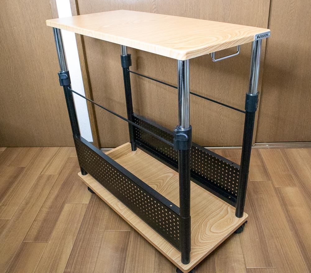 ▲Bauhutteのサイドテーブル、昇降式L字デスク「BHD-670H」(クリックで拡大)