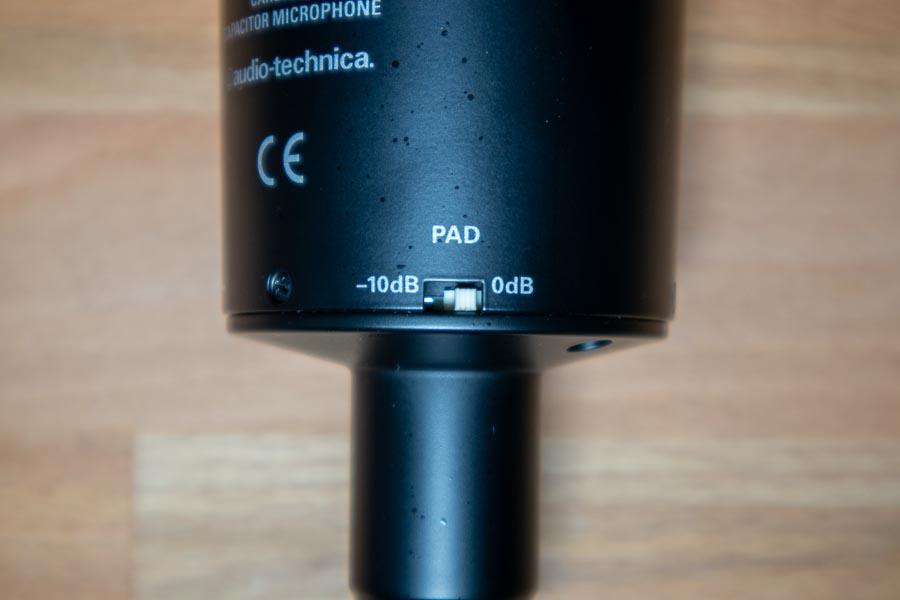 ▲AT2035 −10dB PADスイッチ(クリックで拡大)
