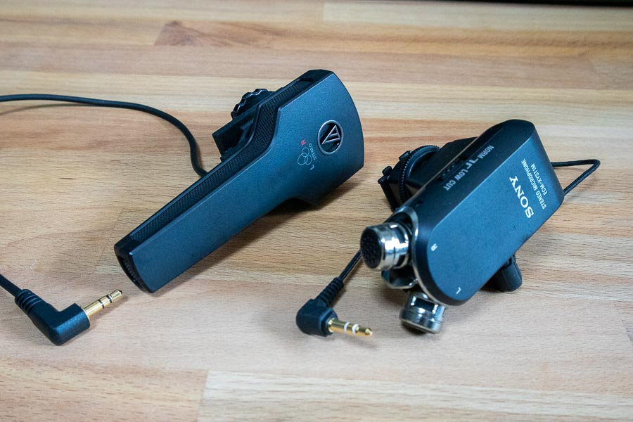 ▲左が「audio-technica AT9946CM」、右が「SONY ECMXYST1M C」(クリックで拡大)