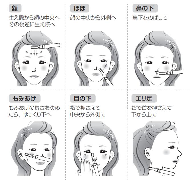 産毛の剃り方